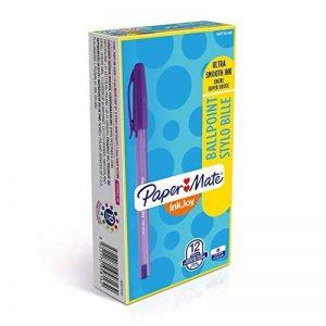 Paper Mate InkJoy 100 Cap Stylo Bille Pointe Moyenne Violet Lot de 12 de la marque Papermate image 0 produit