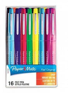 Paper Mate S0977450 Lot de 16 Feutres à Pointe Nylon Flair Pointe Moyenne, Coloris Assortis de la marque Papermate image 0 produit