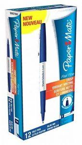 Papermate Flair Fine Feutre Stylo Pointe Fine Bleu- Lot de 12 de la marque Papermate image 0 produit