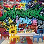 Papier peint du style de rue décoration de peinture murale de graffiti style de photo pop art lettrage comique abstrait urbaine mur d'écriture | murale photo mur deco chez GREAT ART (336 x 238 cm) de la marque GREAT ART image 1 produit