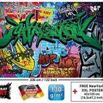 Papier peint du style de rue décoration de peinture murale de graffiti style de photo pop art lettrage comique abstrait urbaine mur d'écriture | murale photo mur deco chez GREAT ART (336 x 238 cm) de la marque GREAT ART image 2 produit