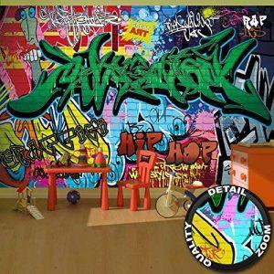 Papier peint du style de rue décoration de peinture murale de graffiti style de photo pop art lettrage comique abstrait urbaine mur d'écriture | murale photo mur deco chez GREAT ART (336 x 238 cm) de la marque GREAT ART image 0 produit