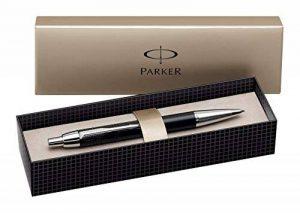 Parker IM Premium Stylo-bille, métal brossé avec attributs plaqués or, pointe moyenne (S0856480) de la marque Parker image 0 produit