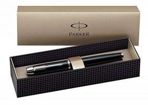 Parker IM Stylo Plume, Laque Noire, Plume Acier de Taille Fine, Attributs Chromés de la marque Parker image 0 produit
