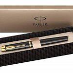 Parker IM Stylo plume Laque Noire, Pointe Fine, Attributs Dorés de la marque Parker image 4 produit