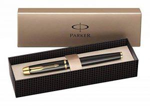 Parker IM Stylo plume Pointe Moyenne Attributs Dorés Noir laqué [Ancien Modèle] de la marque Parker image 0 produit