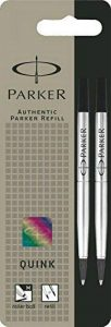 Parker Lot de 2 Quink Recharge pour stylo roller Pointe Moyenne Noir [Ancien Modèle] de la marque Parker image 0 produit