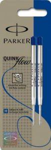 Parker Lot de 2 Quinkflow Recharge pour stylo-bille Pointe Moyenne Bleu [Ancien Modèle] de la marque Parker image 0 produit