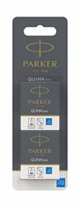 Parker Quink 12 cartouches courtes, encre bleue effaçable de la marque Parker image 0 produit