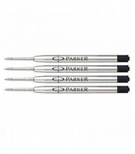 Parker - Quink: 4 Recharges Bille Couleur Noir en Tube Plastique Taille: Moyenne de la marque Parker image 0 produit