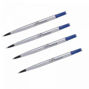 Parker - Quink: 4 Recharges rollerball Z41- tracé 0,7mm S0881250 pour Roller pointe Moyen Bleu de la marque Parker image 0 produit