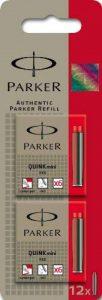 Parker Quink Mini Cartouches d'Encre Internationales Courtes - Rouge (2 Étuis de 6) de la marque Parker image 0 produit