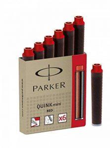 Parker Quink Mini Pack de 6 Cartouches d'Encre pour Stylo-plume Parker Rouge [Ancien Modèle] de la marque Parker image 0 produit