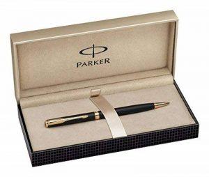 Parker Sonnet Stylo-bille Slim Pointe Moyenne Attributs Dorés Laqué Noir Mat de la marque Parker image 0 produit