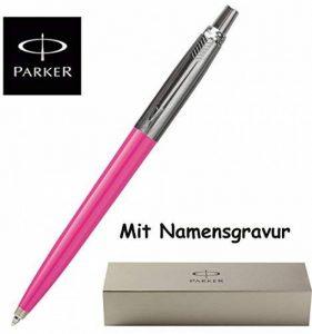 Parker Stylo bille Jotter K 61acier inoxydable ou 8d'autres couleurs avec gravure + 1Système mine Noir avec extra cadeau rosa de la marque sf-werbeservice.com image 0 produit
