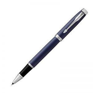 Parker Stylo-bille roulante 1931661 IM, pointe fine et recharge d'encre noir, garniture chrome mat bleu de la marque Parker image 0 produit
