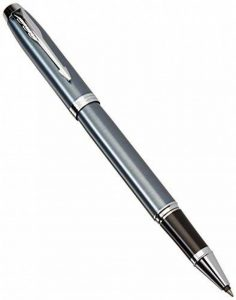 Parker Stylo-bille roulante 1931662 IM, pointe fine et recharge d'encre noir, garniture gris bleu gris chrome de la marque Parker image 0 produit