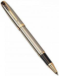 Parker Stylo-bille roulante 1931663 IM, pointe fine et recharge d'encre noir, garniture dorée en métal brossé de la marque Parker image 0 produit