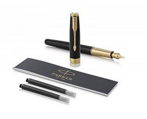 PARKER stylo-plume Sonnet - Plume Or 18K - Plume Fine - Noir (Black Lacquer - Gold Trim) de la marque Parker image 0 produit