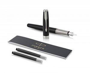 PARKER stylo-plume Sonnet - Plume Or 18K - Plume Moyenne - Noir (Black Lacquer - Palladium Trim) de la marque Parker image 0 produit