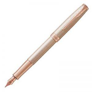 PARKER stylo-plume Sonnet - Premium - Plume Moyenne - Rose (Chiselled Silver - Rose Gold Plated Trim) de la marque Parker image 0 produit