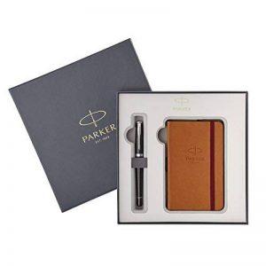 Parker Urban Premium stylo plume ébène avec bloc-notes, coffret de la marque Parker image 0 produit