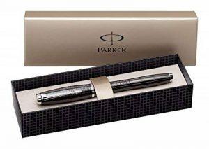 Parker Urban Premium Stylo plume Pointe Moyenne Attributs Chromés Ebène Métal Ciselé [Ancien Modèle] de la marque Parker image 0 produit