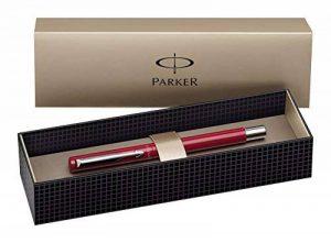 Parker Vector Spécial Stylo plume Pointe Moyenne Attributs Chromés Rouge de la marque Parker image 0 produit