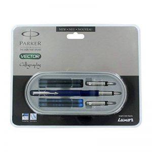 Parker Vector Standard Calligraphy Ct Fountain Pen (Blue) by Parker de la marque Parker image 0 produit