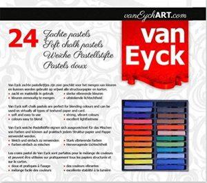 Pastels Tendres 24 Couleurs Intenses et Pures 300 Gr de la marque Van Eyck image 0 produit