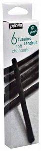 Pébéo 383120 Peinture 1 Boîte de 6 Fusains Tendres Noir de la marque Pébéo image 0 produit