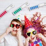 Peigne à Craie pour Cheveux – Coloration temporaire des cheveux – Brosse couleurs – Set de 8 pièces: rouge, rose, vert, violet, gris, jaune, orange et bleu de la marque FauxPeony image 3 produit
