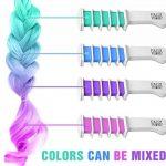 Peigne à Craie pour Cheveux – Coloration temporaire des cheveux – Brosse couleurs – Set de 8 pièces: rouge, rose, vert, violet, gris, jaune, orange et bleu de la marque FauxPeony image 2 produit
