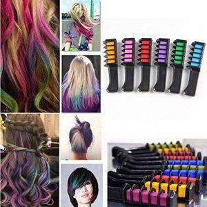 Peigne de cheveux Craie Dye Shimmer temporaire Cheveux Couleur crème 6couleurs de la marque BeeViuc image 0 produit