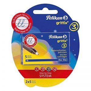 Pelikan Griffix Pack de 2 Etuis de 5 Cartouches d'encre Bleu pour Roller/KM5 de la marque Pelikan image 0 produit