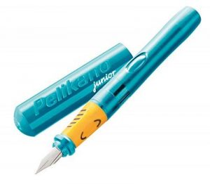 Pelikan Pelikano Junior Stylo plume d'apprentissage en acier inoxydable Gaucher Turquoise de la marque Pelikan image 0 produit