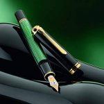 Pelikan Premium Stylo plume de luxe Souverain M1000 Pointe Moyenne Noir/Vert de la marque Pelikan image 1 produit