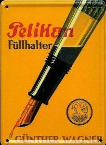 Pelikan stylo plume mini plaque reklamewelt 8 x 11 cm (motif panneau d'indication en metal tin sign de la marque Heart of Ireland image 0 produit