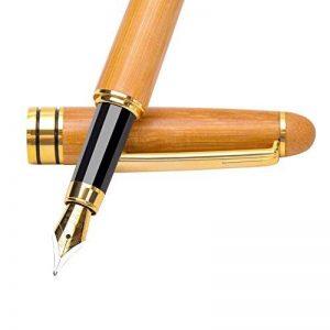 Pen Fine Plume fine, limitée fabriqué à la main en bambou Edition, pointe fine avec étui de luxe, stylos plume de calligraphie Ensemble cadeau pour homme à partir de Renook de la marque Mooker image 0 produit