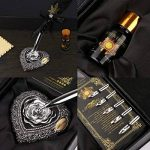Pen kit d'oie Plume Dip Stylo kit sculpté à la main Feather Dip Pen kit à découper avec élégant Stylo support/bouteille d'encre/5Plume (Noir/rouge/vert) - noir de la marque ALLOMN image 1 produit