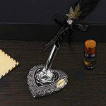 Pen kit d'oie Plume Dip Stylo kit sculpté à la main Feather Dip Pen kit à découper avec élégant Stylo support/bouteille d'encre/5Plume (Noir/rouge/vert) - noir de la marque ALLOMN image 5 produit
