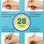 Pencil Grips, Firesara Porte-stylo ergonomique original Griffe Aide Posture d'écriture correcte en 4 semaines pour les enfants Maternelle Adultes Besoins spéciaux Righties ou gauchers (8 PCS) de la marque Firesara image 2 produit
