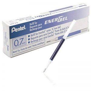 Pentel LR7-C Lot de 12 Recharges Encre Bleu pour Roller Energel Pentel BL57/77/107/117/407 de la marque Pentel image 0 produit