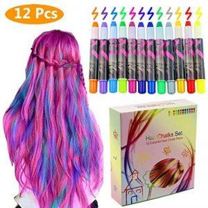 Philonext Craie cireuse professionnelle colorée de stylos Cheveux colorée non-toxique temporaire de cheveux (12 Colors) de la marque Philonext image 0 produit