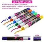 Philonext Craie cireuse professionnelle colorée de stylos Cheveux colorée non-toxique temporaire de cheveux (12 Colors) de la marque Philonext image 1 produit