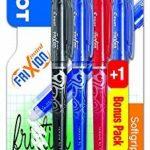 Pilot - Blister 3+1 FriXion Point 0.5 - Roller effaçable - Noir/Bleu/Rouge + Vert ou Bleu - Pointe fine de la marque Pilot image 1 produit