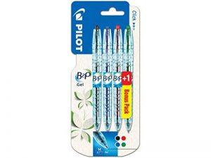 Pilot - Blister 4 B2P Gel - Roller encre gel - Noir/Bleu/Rouge/Vert - Pointe moyenne de la marque Pilot image 0 produit