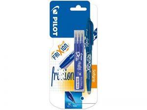 Pilot - Blister FriXion Ball 0.7 - Roller effaçable - Bleu + 1 set de 3 recharges - Pointe moyenne de la marque Pilot image 0 produit