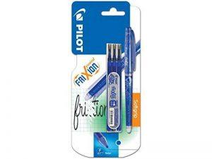 Pilot - Blister FriXion Point 0.5 - Roller effaçable - Bleu + 1 set de 3 recharges - Pointe fine de la marque Pilot image 0 produit