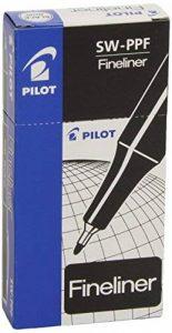 Pilot Fineliner Lot de 12 Stylo feutre Pointe fine baguée métal Corps plastique couleur Encre Noir de la marque Pilot image 0 produit